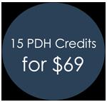 15 PDH Credits - $69